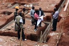 Baugrube an der  der Schule Nyamagabe vom 04.05.2020
