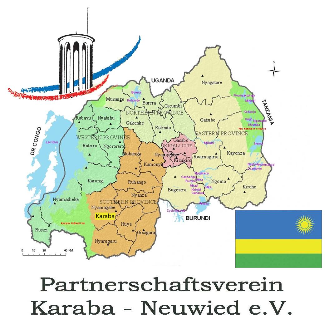 Karte Karaba, Ruanda
